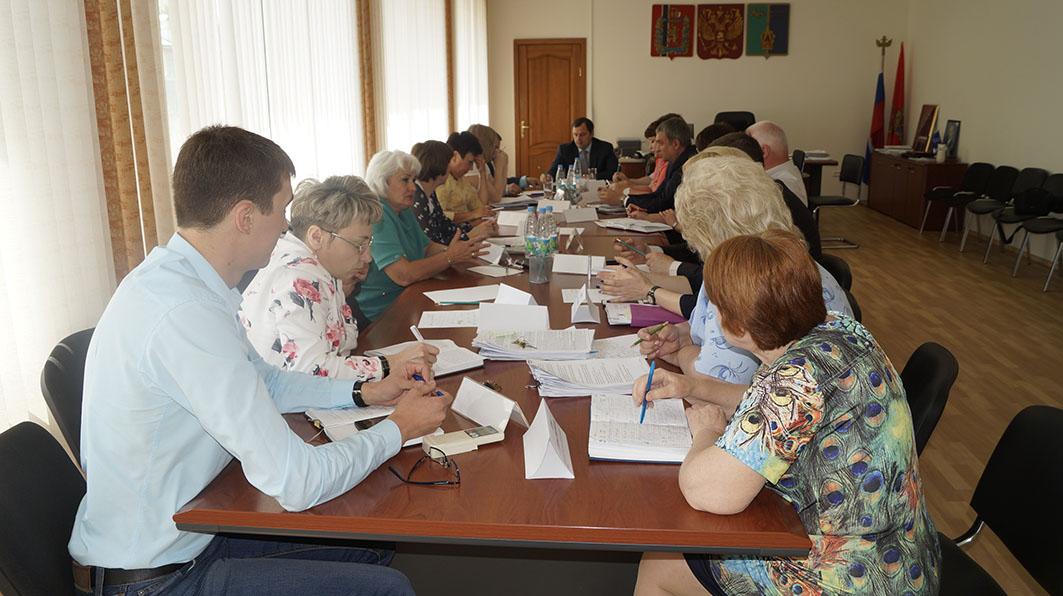 рабочее совещание с руководителями городских подразделений